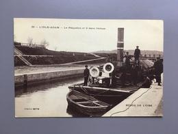 L' ISLE-ADAM - La Paquebot Dans L' écluse - Bords De L'Oise - Bateau - Scheepvaart - Péniche - Maritime - Pontoise