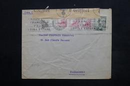 ESPAGNE - Enveloppe De Madrid Pour Paris En 1942 , Cachet De Censure - L 24922 - Marcas De Censura Nacional