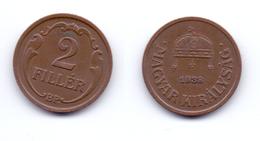 Hungray 2 Filler 1938 - Hongrie