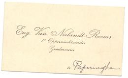 Visitekaartje - Carte Visite - Rijkswachter Gendarmerie Poperinge - Eug. Van Nielandt Rooms - Cartes De Visite
