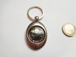Beau Porte Clés , Champagne Jonot Marchwicki , Pouillon , Marne , Porte Jeton De Caddie - Porte-clefs