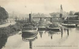 CONFLANS FIN D'OISE - Garage Des Guêpes Et Pont Suspendu. - Remorqueurs