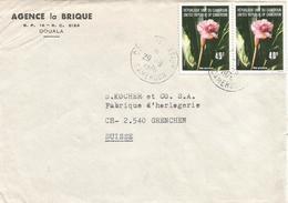 Cameroon Cameroun 1976 Douala Aviation Ginger Etlingera Elatior Flower Cover - Kameroen (1960-...)