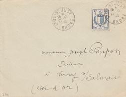France Timbre N°734 Seul Sur Lettre Lyon-St-Just 1945 - Marcophilie (Lettres)