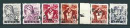 Saar MiNr. 226, 228, 232, 233 Ur + Neudruck, 236 **, Aufdruck Extrem Verschoben  (sab47) - 1920-35 League Of Nations