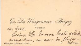 Visitekaartje - Carte Visite - Schilder Tr. De Waegenaere - Bergez - Deinze - Cartes De Visite