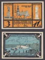 Germany 3 Mark 1921 (AU-UNC) CRISP Banknote East Prussia Memel Tilsit - Billets