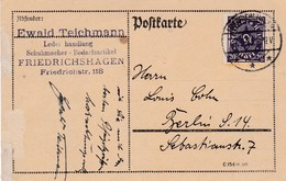Karte Aus Friedrichshagen 1923 - Lettres & Documents