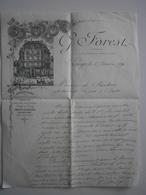 18 Bourges, Lettre De G. Forest, Confiseur, Au Capitaine De Frégate De Chauliac. Le 6 Janvier 1891 - France
