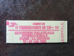 1982 Liberté De Delacroix 1,80F Rouge PHILEXFRANCE 82  Y&T = 2220 C2  Conf. 6 ** MNH - Carnets