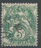 Lot N°46412  Variété/n°111, Oblit Cachet à Date, Filets EST, Coin SUD EST - 1900-29 Blanc
