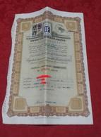 Isotta Fraschini Azioni Automobili Auto Certificato Azionario Per 5 Azioni 1947 Torino - Automobile