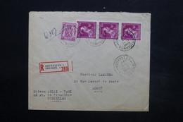 BELGIQUE - Enveloppe En Recommandé De Bruxelles Pour Alost En 1945, Vignette Commerciale Au Verso - L 24941 - Belgium