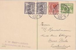 PAYS-BAS 1928    ENTIER POSTAL/GANZSACHE/POSTAL STATIONERY  CARTE DE GRAVENHAGE POUR DAVOS - Entiers Postaux
