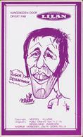 Sticker Autocollant Roger De Vlaeminck  Eeklo Illustrator Rik Delnest Nesten Cartoon Wielrenner Coureur Cycliste - Autocollants