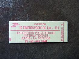 1982 Liberté De Delacroix 1,60F Rouge Y&T = 2187 C2a  Conf. 4 Gomme Mate ** MNH - Carnets