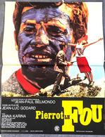 Aff Ciné Orig PIERROT LE FOU (Godard/1965) Belmondo 40x60cm - Posters