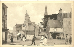 SAINT-PAIR-SUR-MER  - La Place Et L' Eglise - Saint Pair Sur Mer