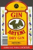 1603 - Gin Artemi Dry Gin - Elaborado Y Embotellado En Canarias - Especial Por Cocktails - - Etiquettes