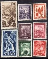 Sarre Occupation Française N° 255 / 62 X Industries Et Paysages, La Série Des 8 Valeurs Trace De  Charnière SinonTB - 1947-56 Occupation Alliée