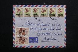 CONGO - Enveloppe De Elisabethville Pour La Belgique En 1964 , Affranchissement Plaisant - L 24945 - République Du Congo (1960-64)