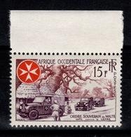 AOF - YV 63 N** Ordre Souverain De Malte , Lutte Contre La Lèpre - Unused Stamps