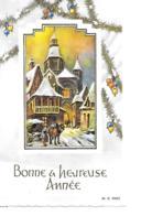 BONNE ANNEE MIGNONNETTE FORMAT 7X11 CM MD PARIS - Nouvel An