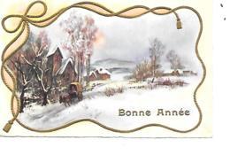 BONNE ANNEE MIGNONNETTE FORMAT 7X11 CM MD PARIS 388 - Nouvel An