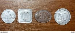 Série De 4 Monnaies Nécessité Coloniale Pour La Compagnie Des Salins Du Midi (Salines De Sal - Iles Du Cap Vert) - Colonie