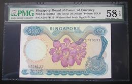 Singapore 50 Dollars 1972 About UNC PMG 58 - Singapour