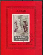 Ajman 1972 Affreschi Di Pompei Dea Suada Eros Venere Museo Archeologico Napoli Wall Paintings - Ajman
