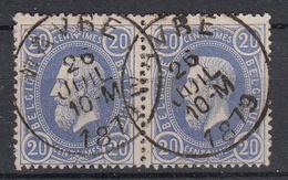 BELGIË - OPB - 1869/83 - Nr 31 (WAVRE) - 1869-1883 Léopold II