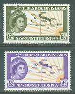 Turks & Caicos Is: 1959   New Constitution     MH - Turks And Caicos
