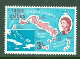 Turks & Caicos Is: 1967   QE II Pictorials   SG284   3/-   MH - Turks And Caicos