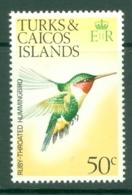 Turks & Caicos Is: 1973   Birds   SG393    50c    MH - Turks And Caicos