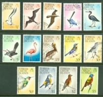 Turks & Caicos Is: 1976/77   Birds Set   SG451-464    Used - Turks And Caicos
