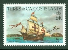 Turks & Caicos Is: 1983/85   Ships   SG770    5c  [Perf: 14]  MNH - Turks & Caicos (I. Turques Et Caïques)