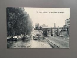 SAINT-QUENTIN - Canal - Usine De Rocourt - Péniche - Bateau - Scheepvaart - Maritime - Saint Quentin