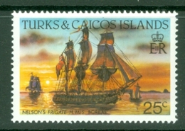 Turks & Caicos Is: 1983/85   Ships   SG774    25c  [Perf: 14]  MNH - Turks & Caicos (I. Turques Et Caïques)