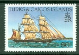 Turks & Caicos Is: 1983/85   Ships   SG777    50c  [Perf: 14]  MNH - Turks & Caicos (I. Turques Et Caïques)
