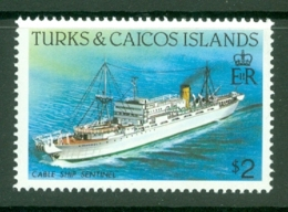 Turks & Caicos Is: 1983/85   Ships   SG781    $2  [Perf: 14]  MNH - Turks And Caicos