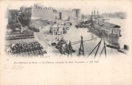 Brest (29) - Port Militaire - Le Château - Vue Prise Du Pont Tournant - Brest