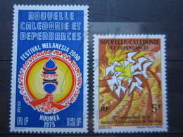 VEND BEAUX TIMBRES DE NOUVELLE-CALEDONIE N° 394 + 395 , XX !!! - New Caledonia