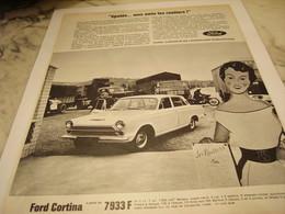 ANCIENNE PUBLICITE VOITURES CORTINA DE FORD  1965 - Voitures