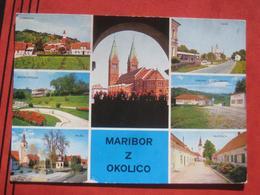 "Maribor Kamnica Bresternica Ruse Hoce Slivnica Orehova Vas / Marburg - Mehrbildkarte ""Maribor Z Okolico"" / Nachgebühr? - Slowenien"