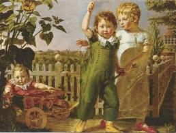 """Carte Ouvrante Peinture """"Les Enfants Hülsenbeck"""" De Runge Philipp OTTO Pour SOS Village D'Enfants - Paintings"""