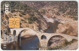 GREECE B-830 Chip OTE - Culture, Historic Bridge / View, Town - Used - Greece