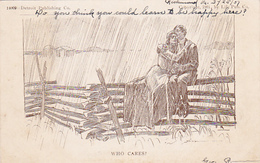 Couple On Fence In Rain , 00-10s - Couples