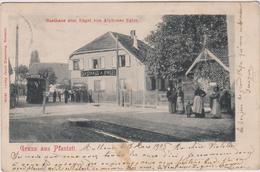 68    Gruss Aus   Pfastatt Gasthaus Zum Eugel Von Alphonse Egler - Autres Communes