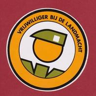 Sticker Autocollant Aufkleber Vrijwilliger Bij De Landmacht Adhesivo Soldaat Belgian Soldier Soldat Belge Belgisch Leger - Autocollants